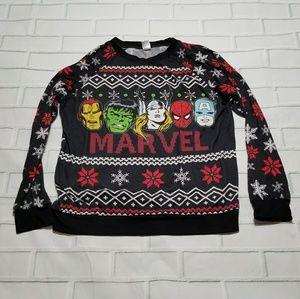 MARVEL Avengers round neck snowflake thin sweater
